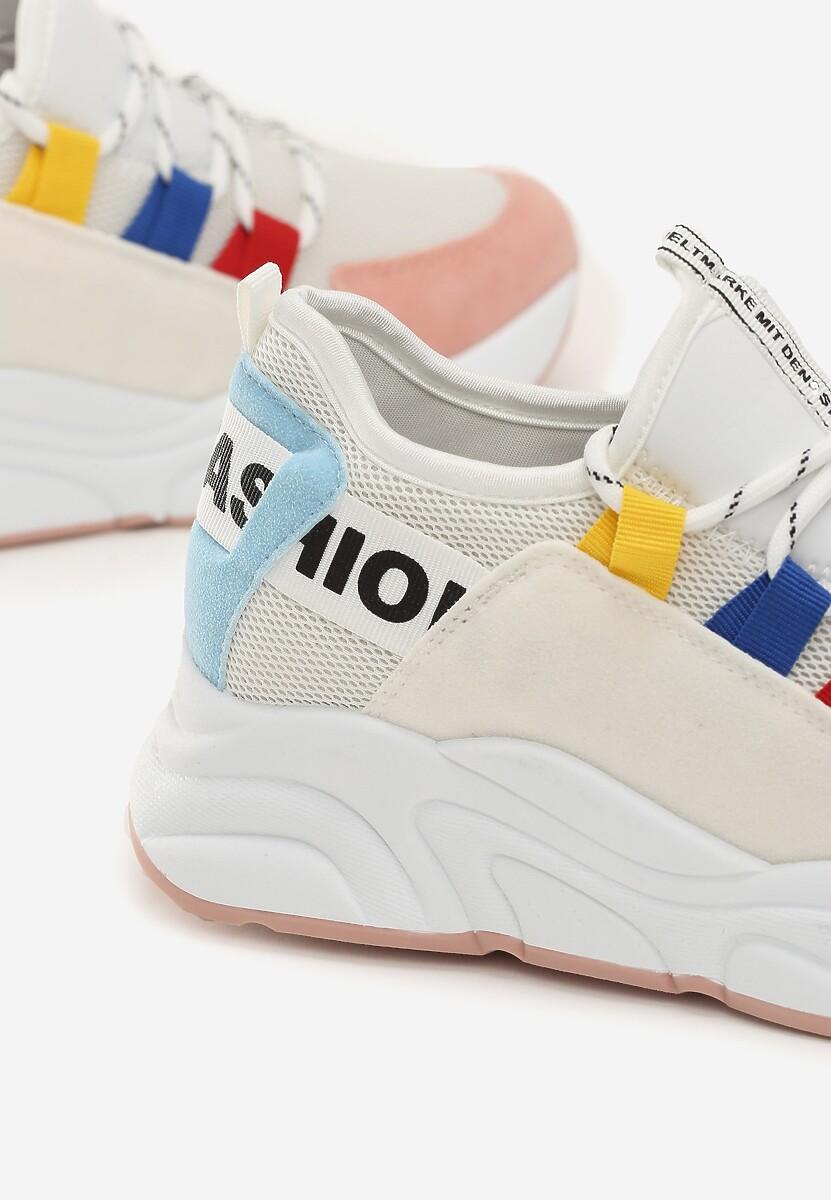 Biało-Różowe Sneakersy Alaia