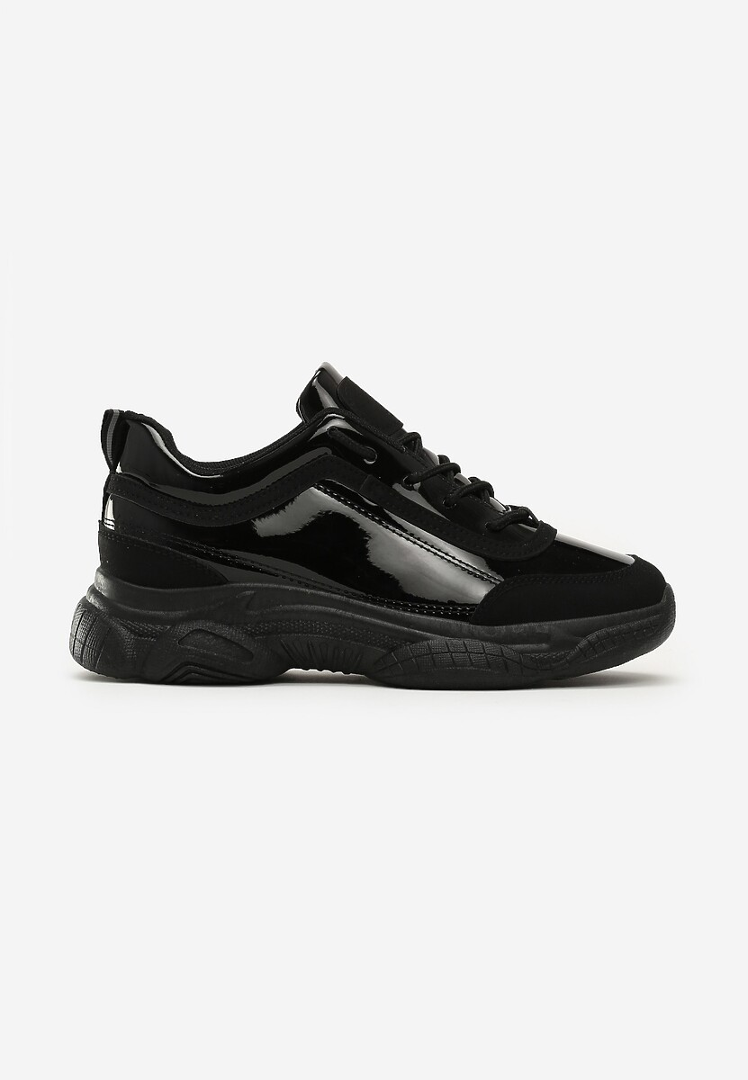 Czarne Sneakersy Faye
