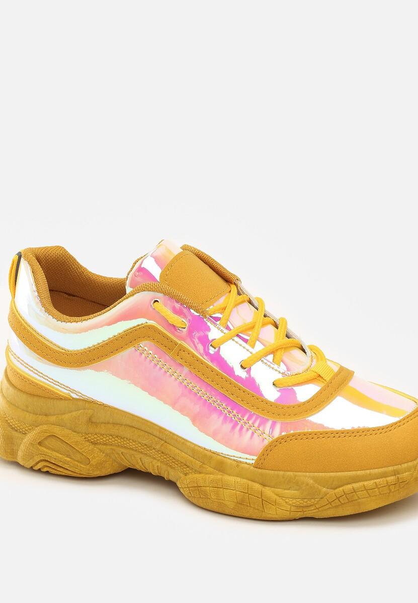 Żółte Sneakersy Faye