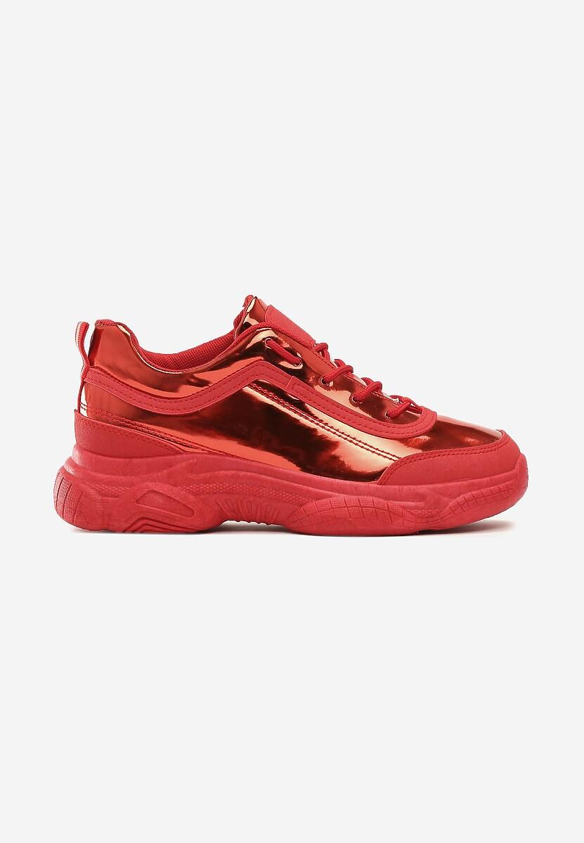 Czerwone Sneakersy Faye