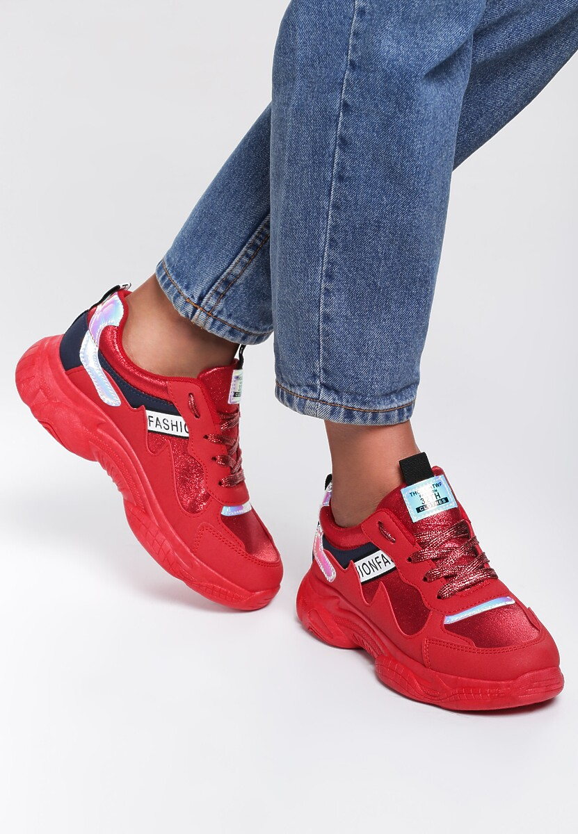 Czerwone Sneakersy Lea