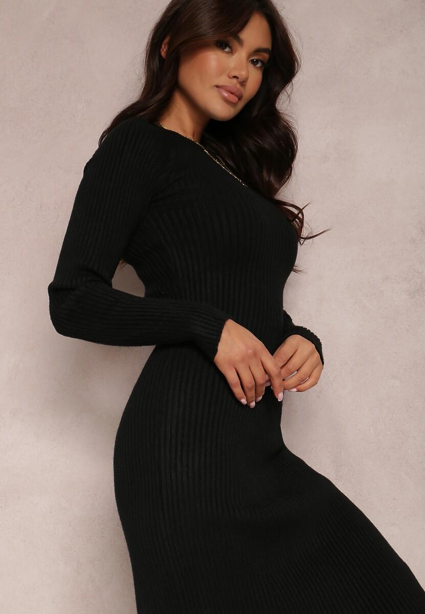 Czarna Sukienka Aerin
