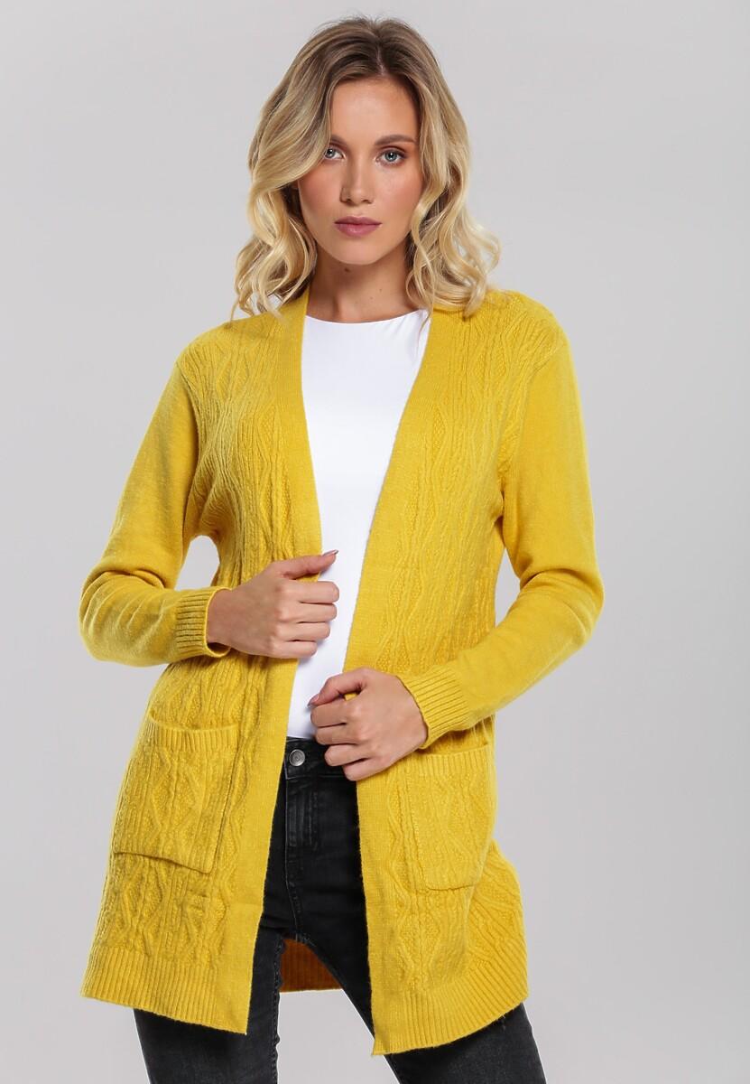 Żółty Kardigan Amla