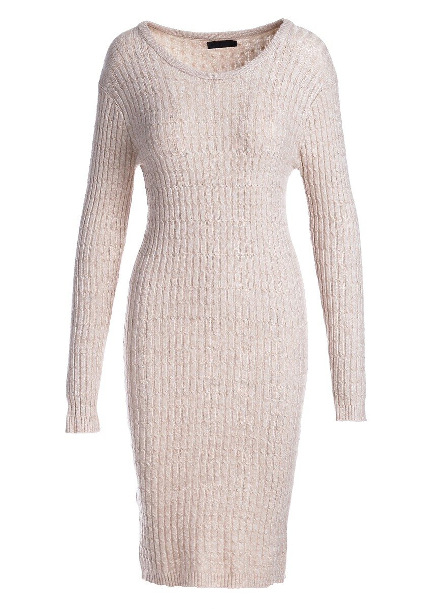 Jasnobeżowa Sukienka Feel It