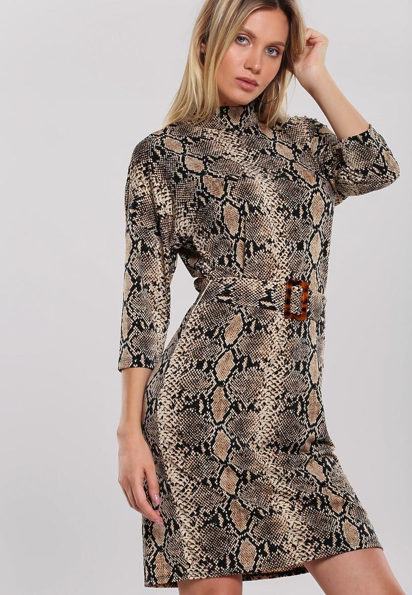 Beżowa Sukienka Fishwife