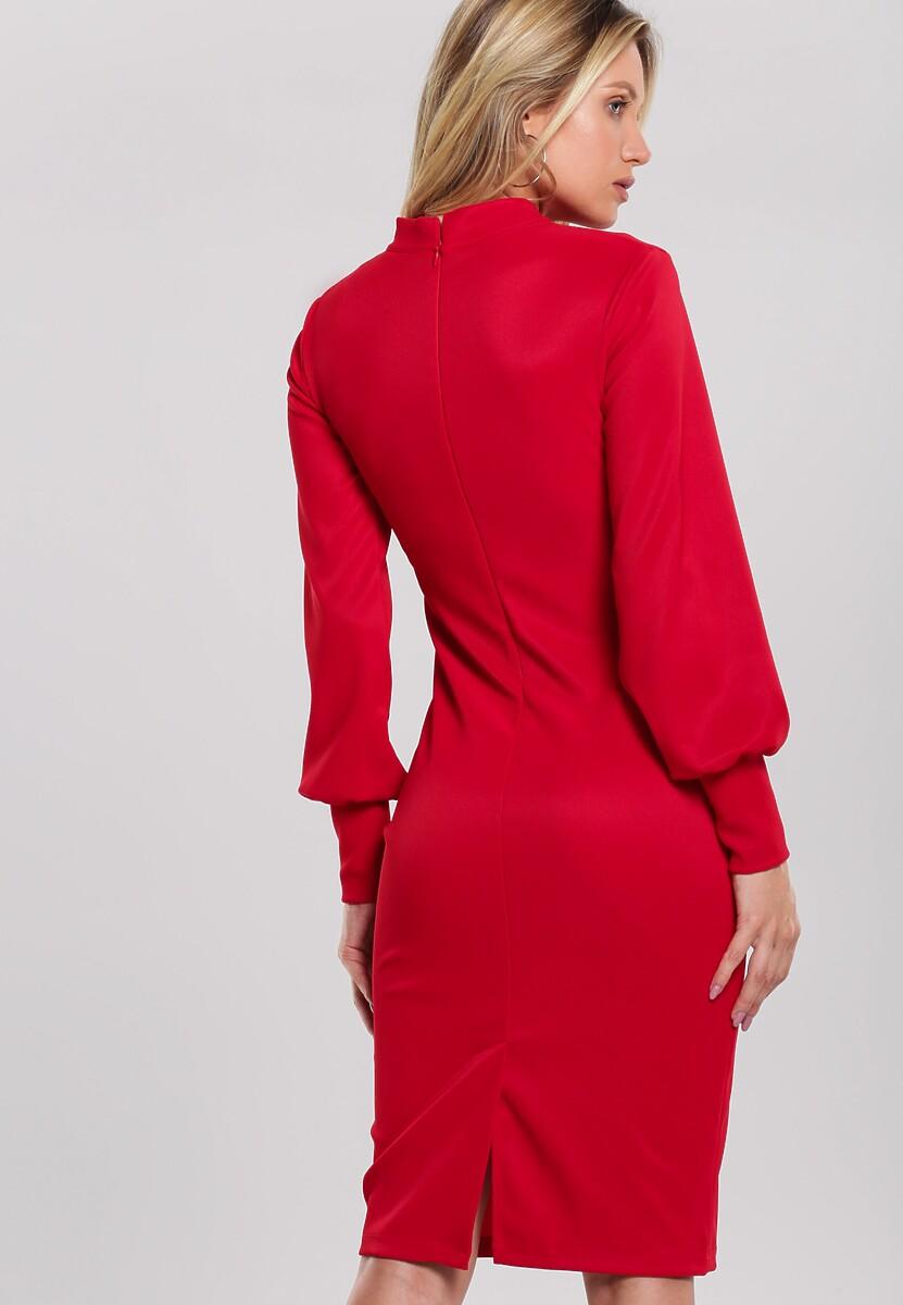 Czerwona Sukienka Goose