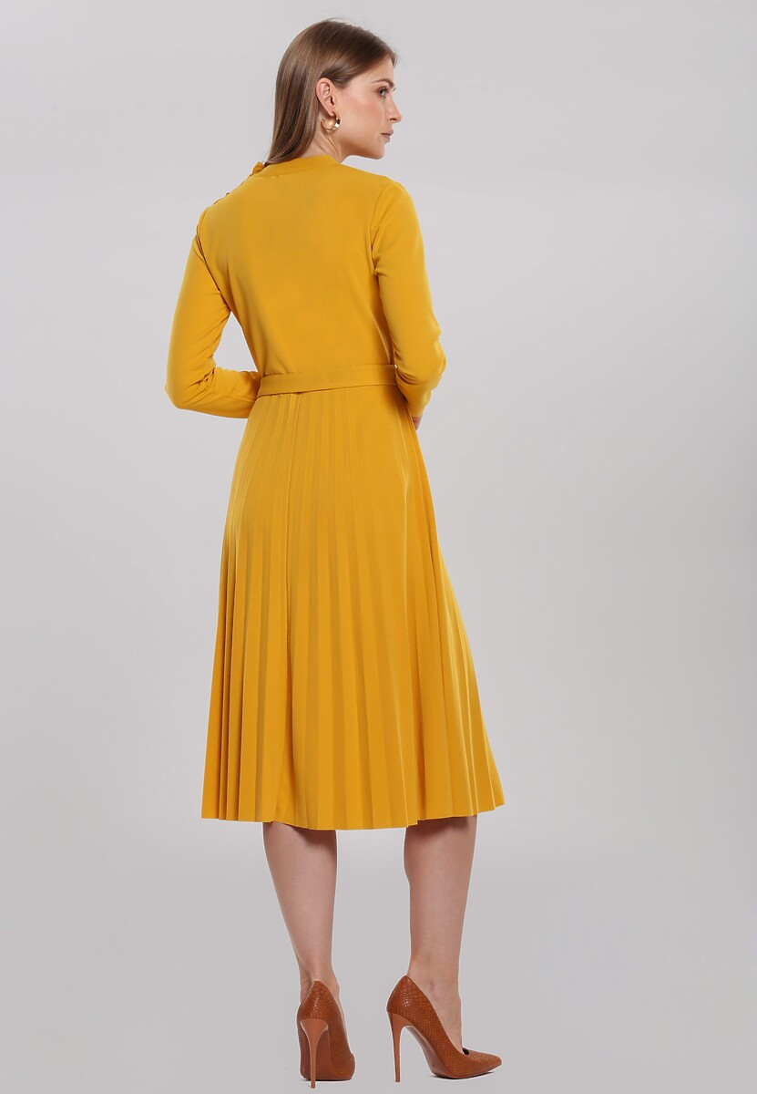 Żółta Sukienka Beaumont