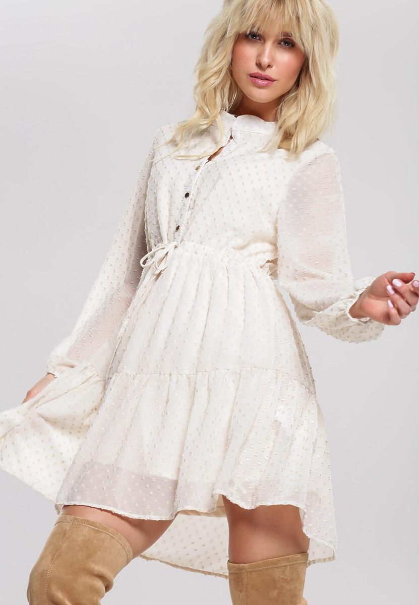Jasnobeżowa Sukienka Piquette