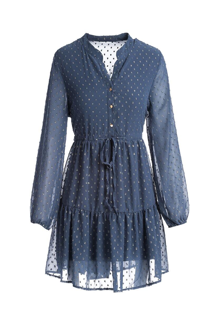 Ciemnoniebieska Sukienka Piquette