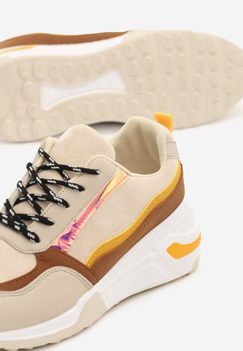 Beżowe Sneakersy Toledo