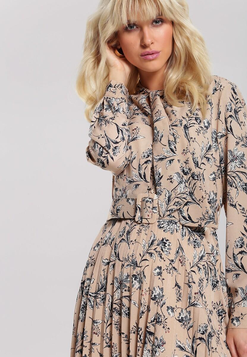 Beżowa Sukienka Stork
