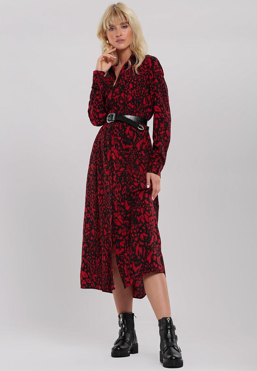 Czarno-Czerwona Sukienka Levant