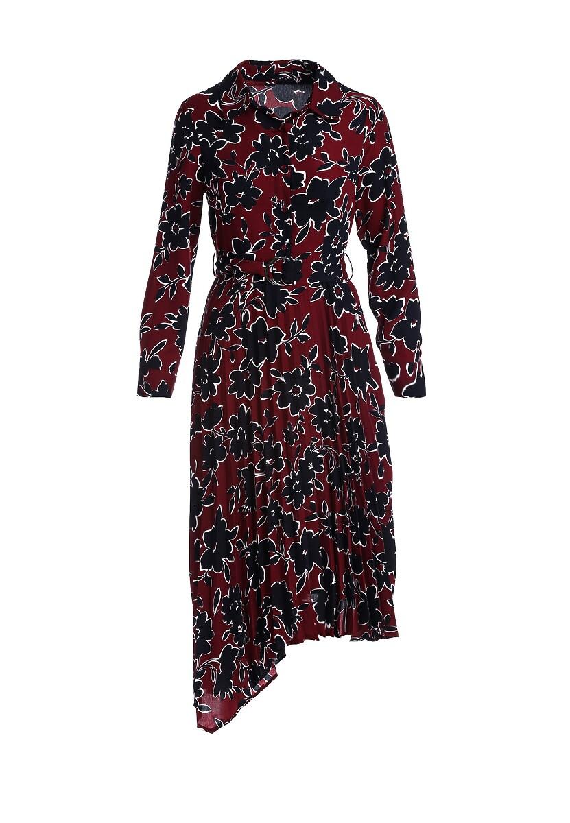 Bordowa Sukienka Melodist