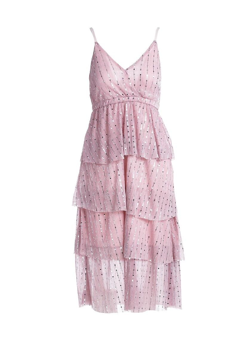 Różowa Sukienka Natheless