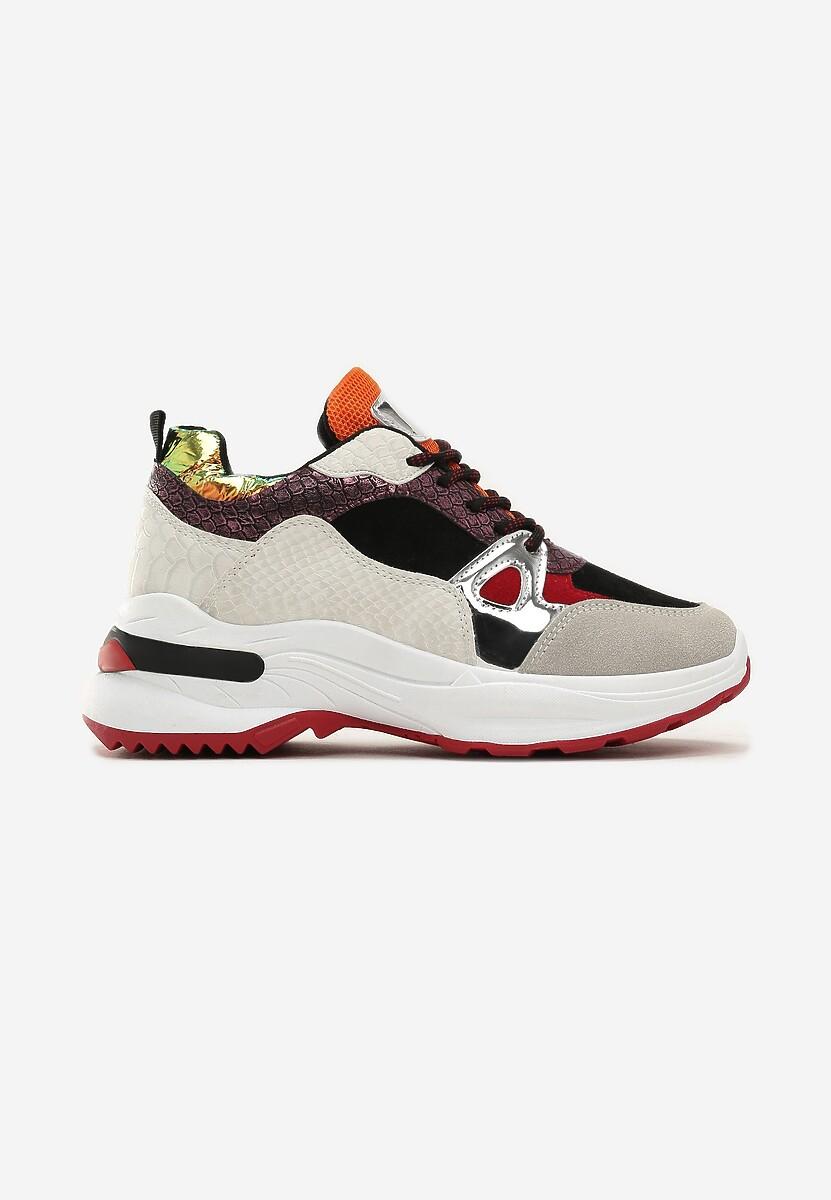 Biało-Czarne Sneakersy Falun