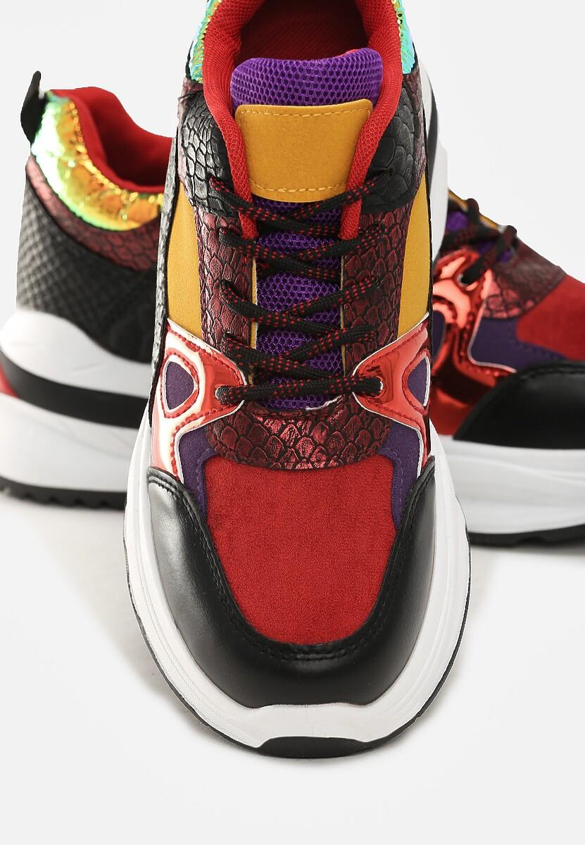 Czarno-Czerwone Sneakersy Falun