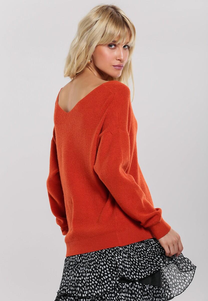 Pomarańczowy Sweter Hilldene