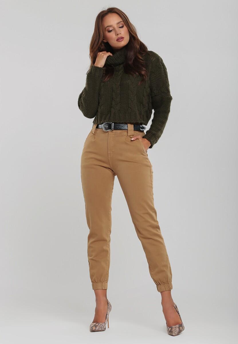 Ciemnobeżowe Spodnie Stoneycroft