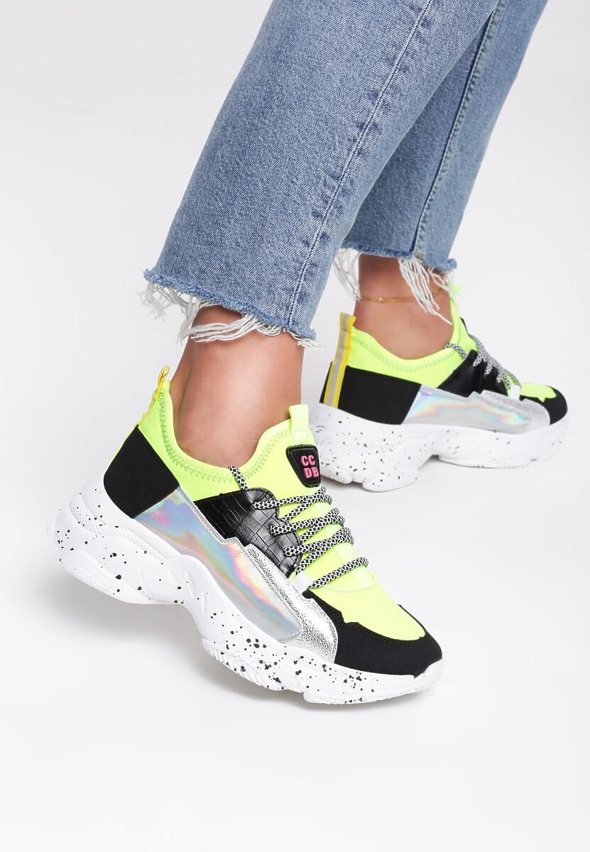 Żółte Sneakersy Beckton