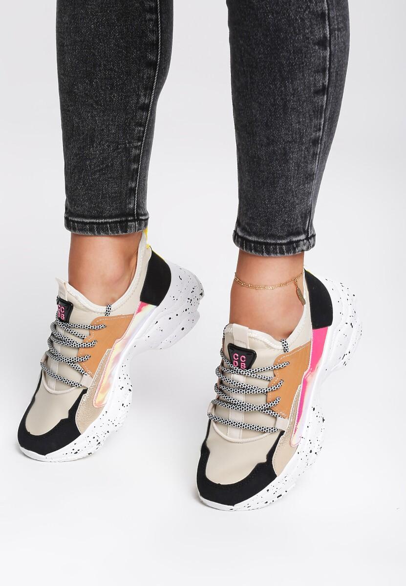 Beżowe Sneakersy Beckton