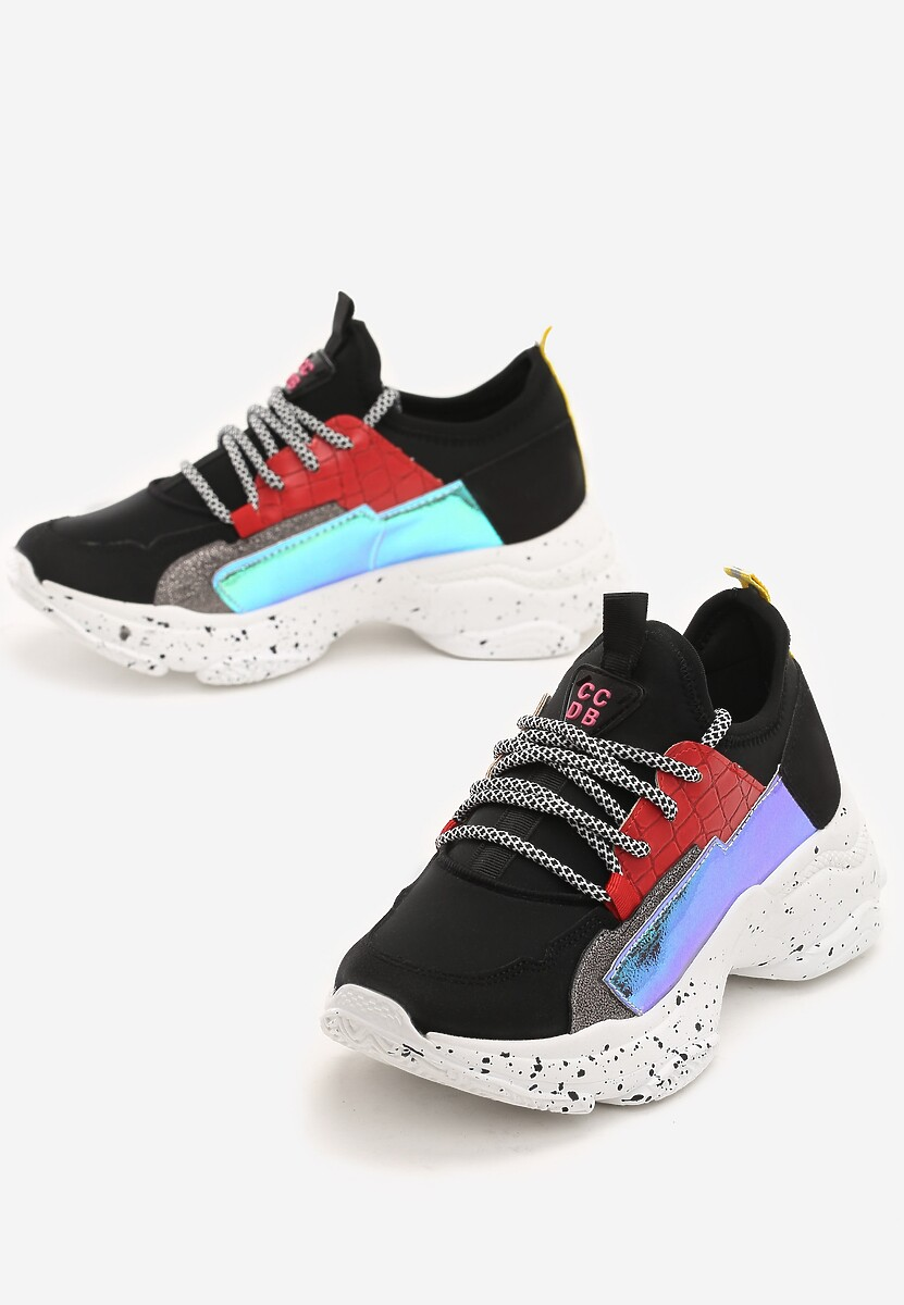 Czarne Sneakersy Beckton