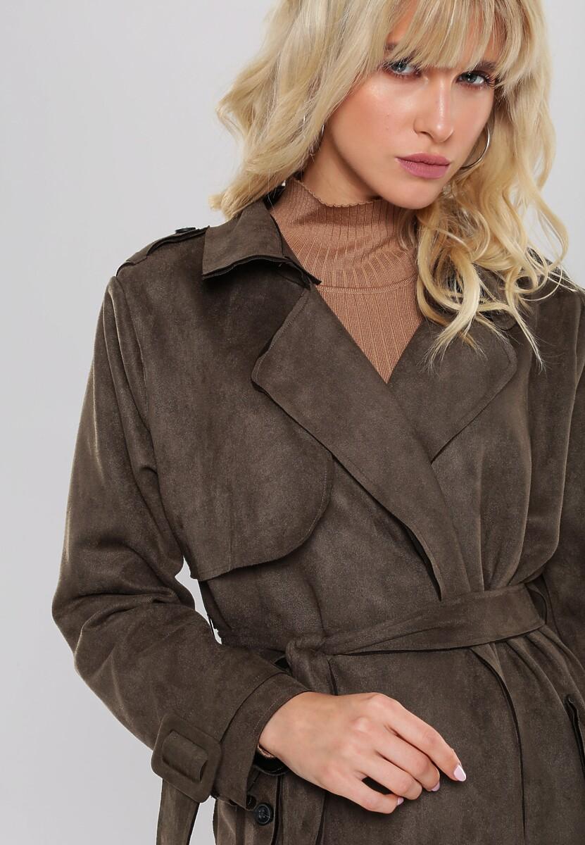 Ciemnozielony Płaszcz Dovecot