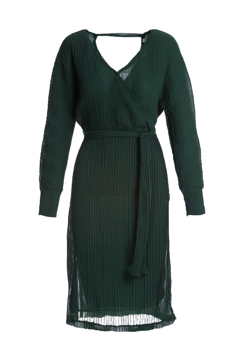 Ciemnozielona Sukienka Chaumont