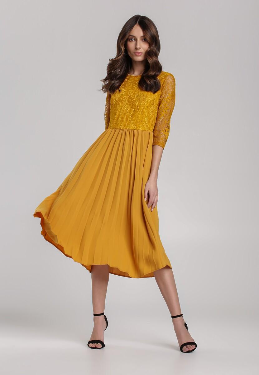 Musztardowa Sukienka Cavaillon