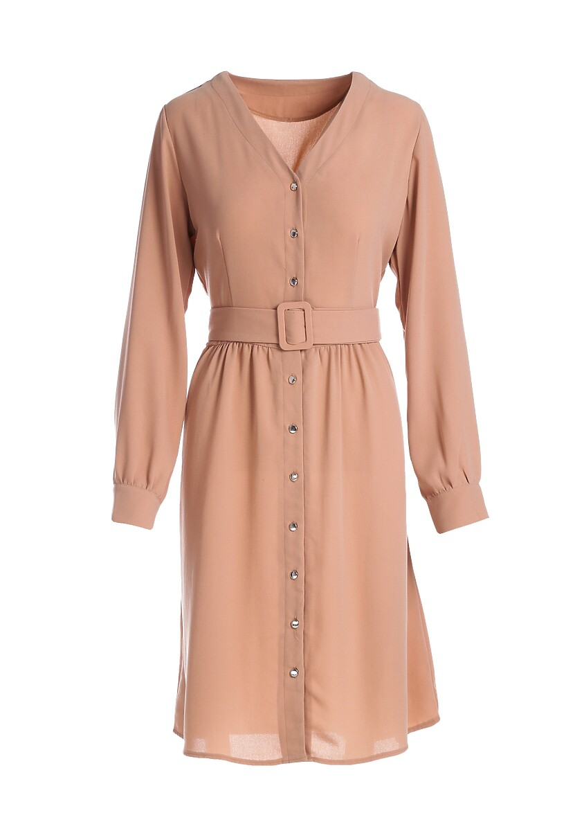 Beżowa Sukienka Aveyron