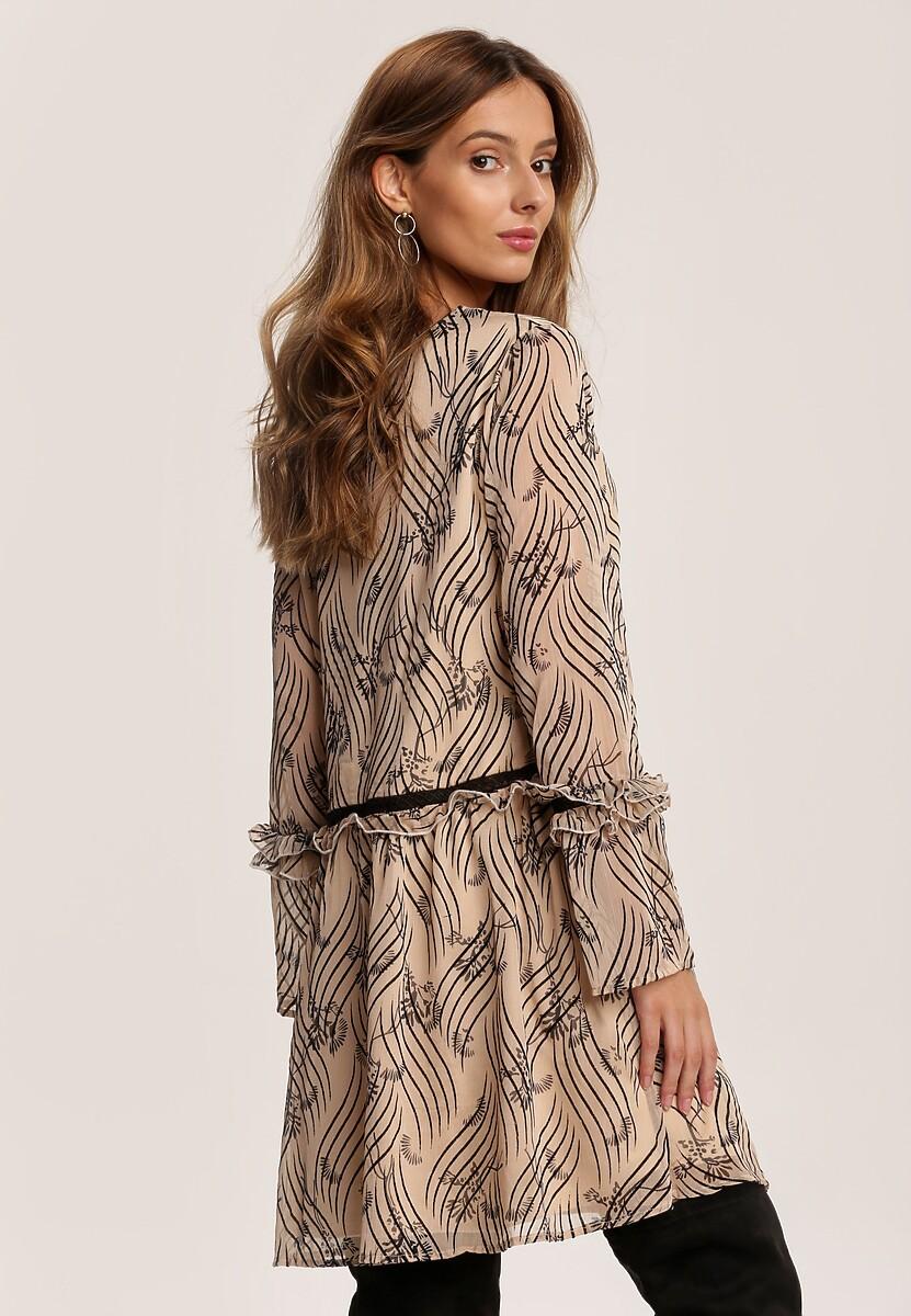 Beżowa Sukienka Jandira
