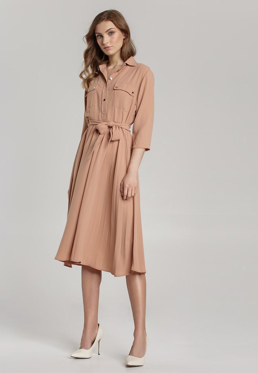 Beżowa Sukienka Abbeville