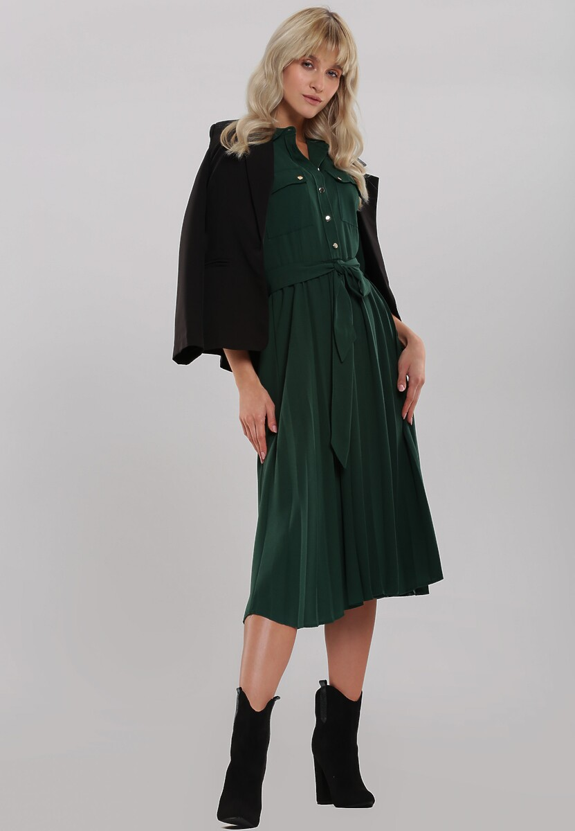 Ciemnozielona Sukienka Abbeville