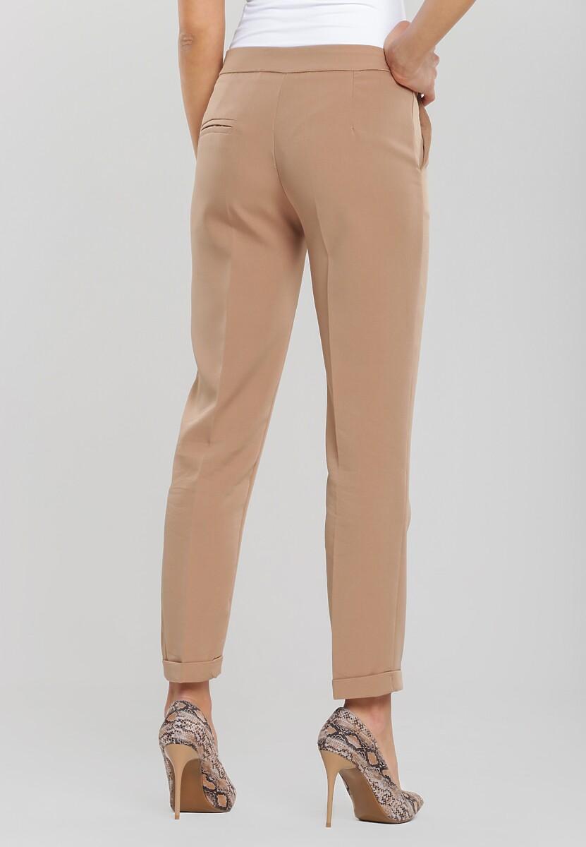 Beżowe Spodnie Dignified