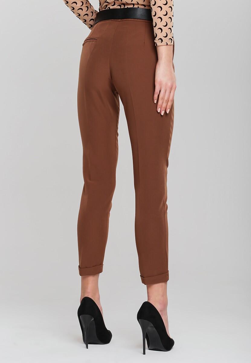 Brązowe Spodnie Dignified