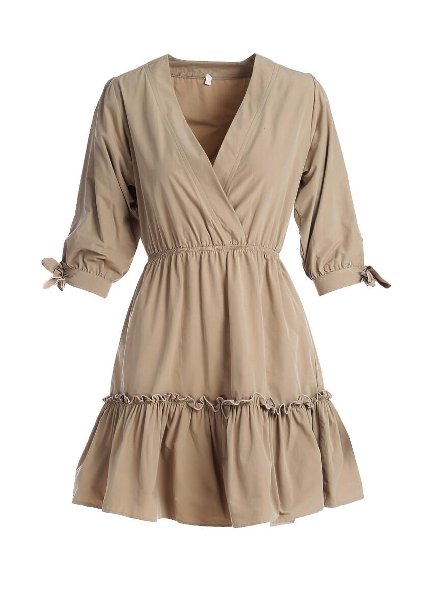 Beżowa Sukienka Montgeron