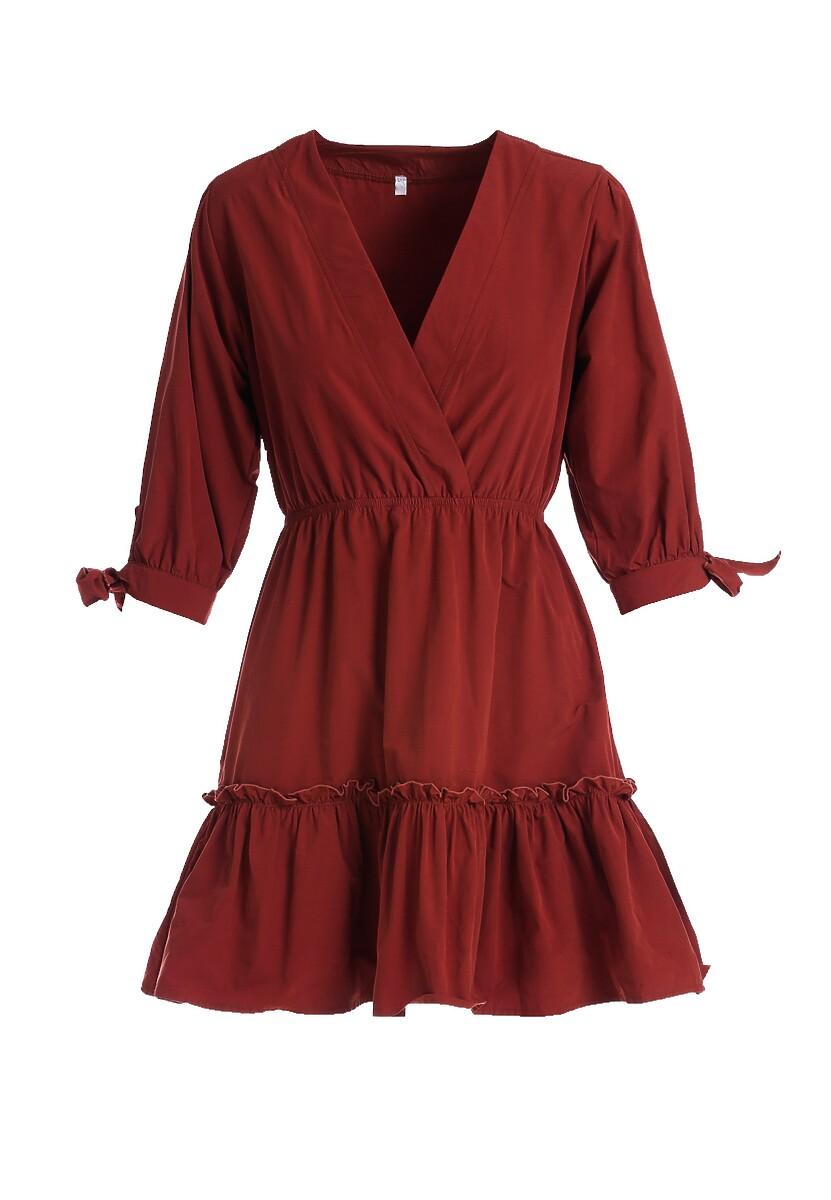 Bordowa Sukienka Montgeron