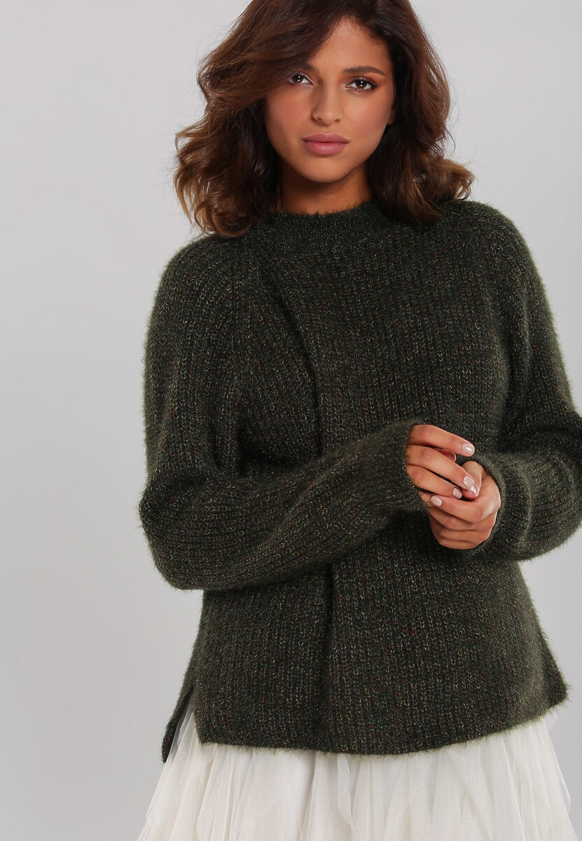Ciemnozielony Sweter Balgreen