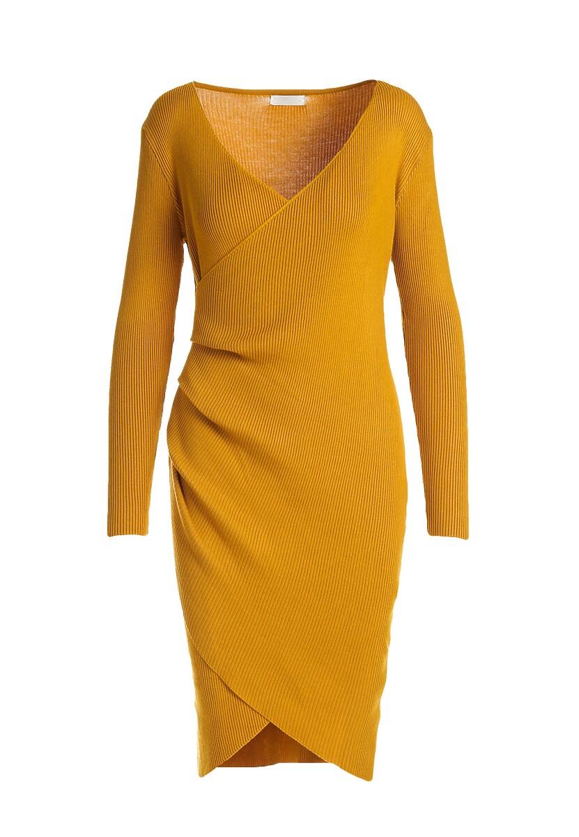 Musztardowa Sukienka Shirehampton