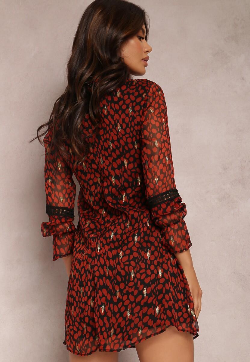 Czarno-Czerwona Sukienka Dourados