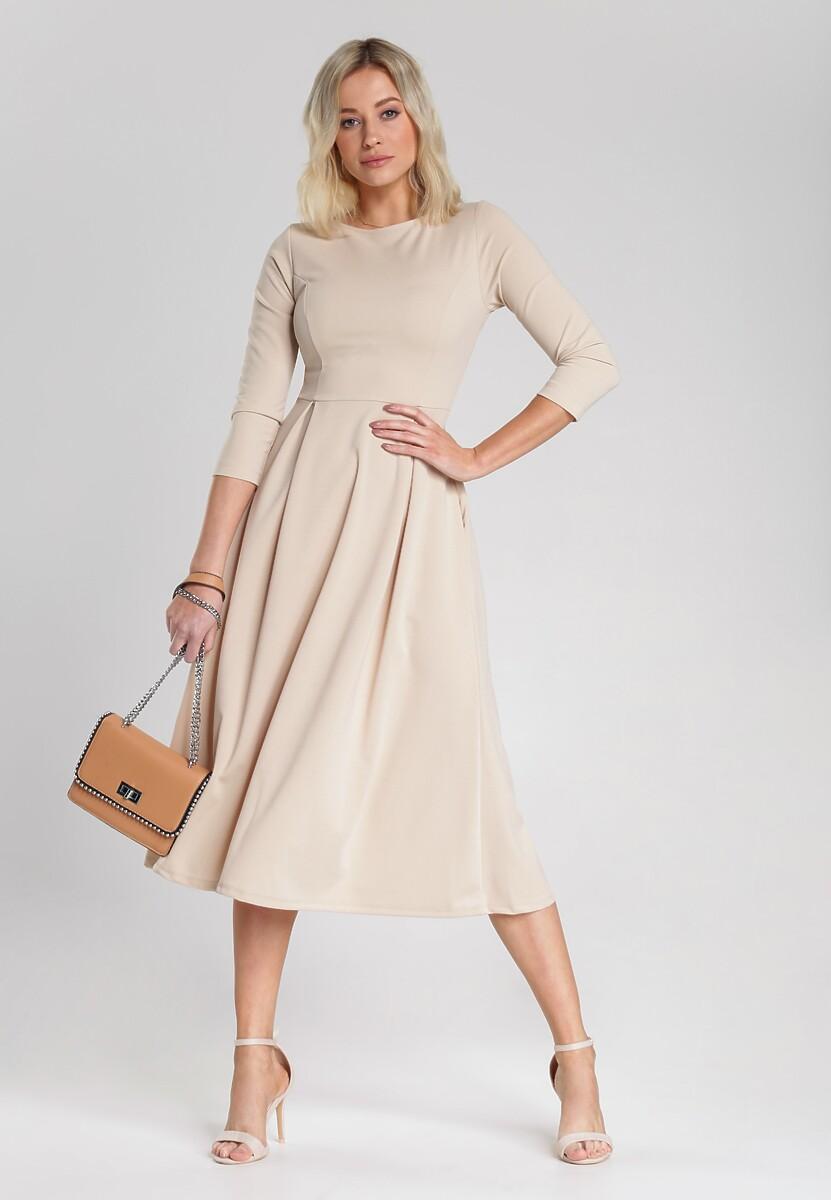 Beżowa Sukienka Hanson