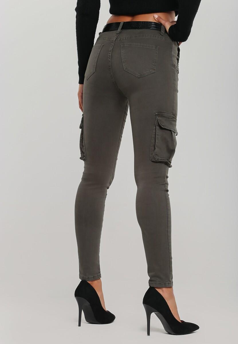 Ciemnozielone Spodnie Tregear