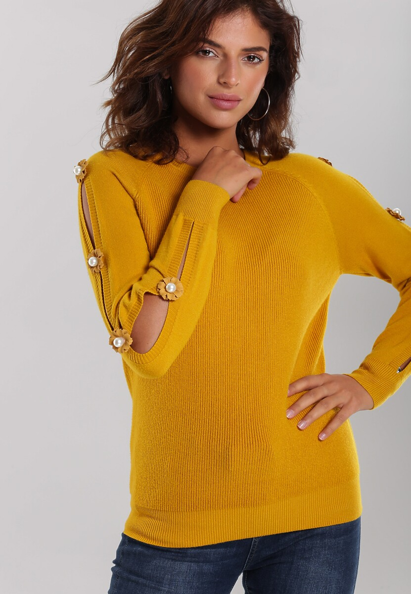 Żółty Sweter Sandhurst