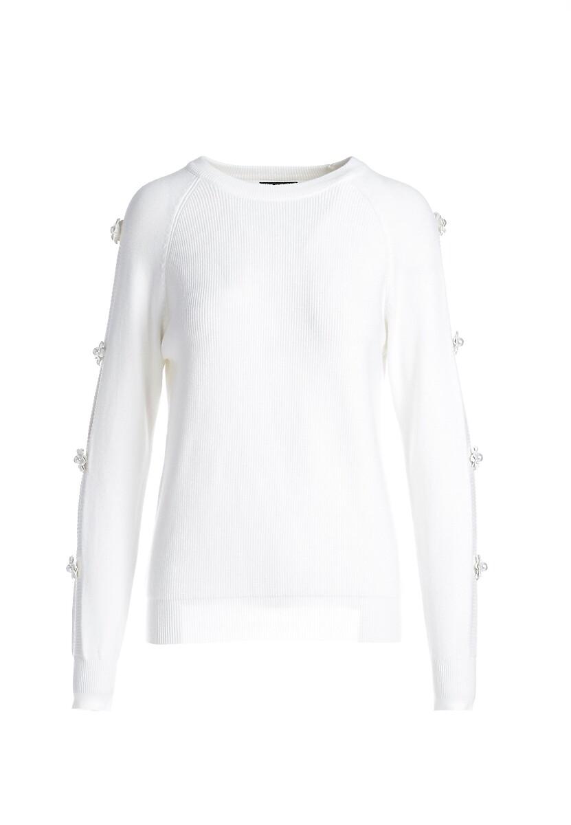 Biały Sweter Sandhurst