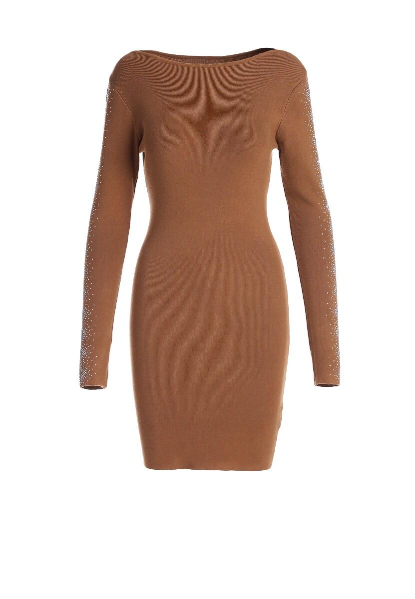 Brązowa Sukienka Kearns