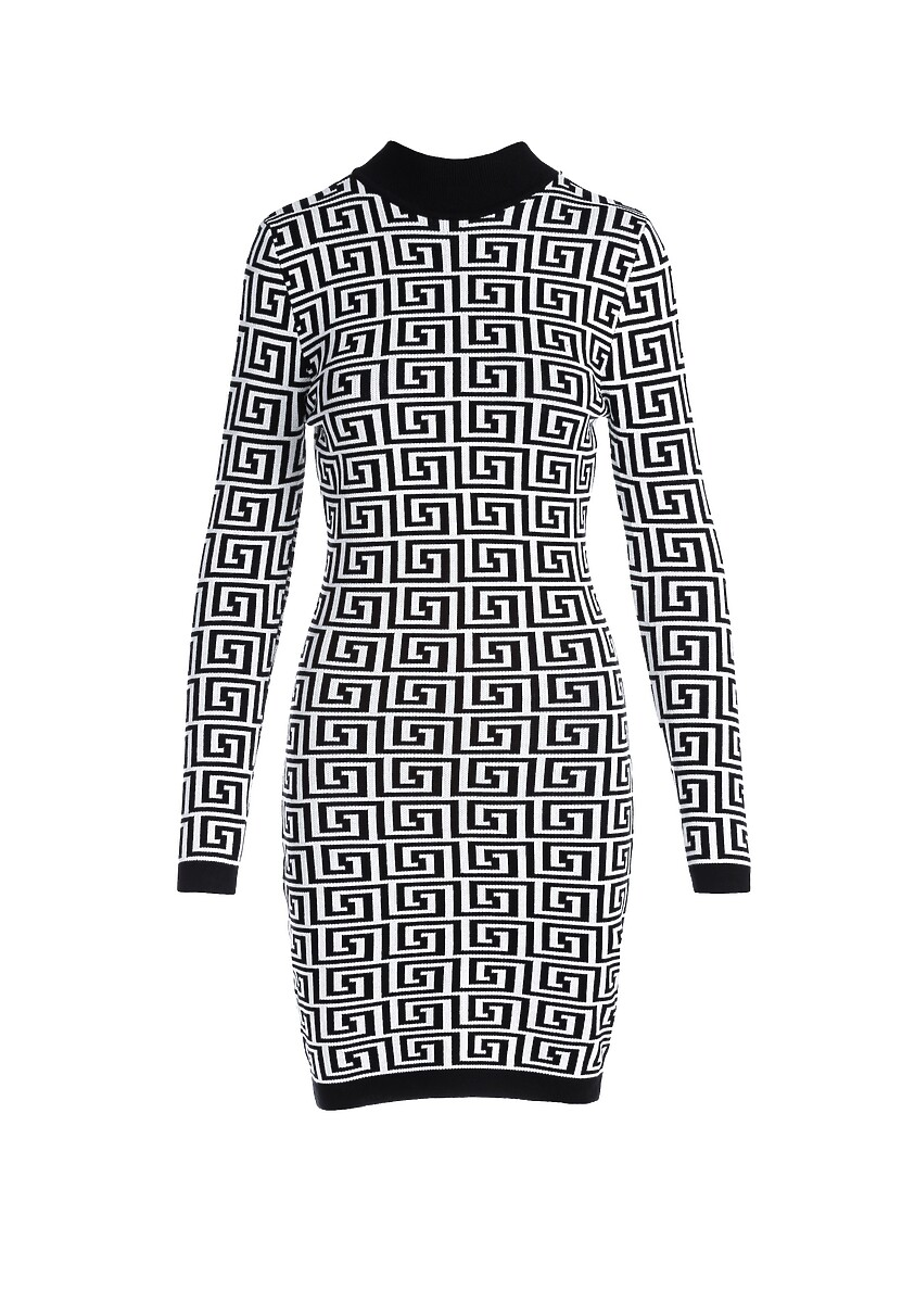 Biało-Czarna Sukienka Leonay