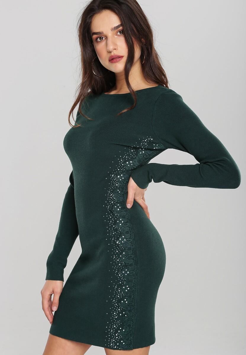 Ciemnozielona Sukienka Macquarie Kod produktu: 106093