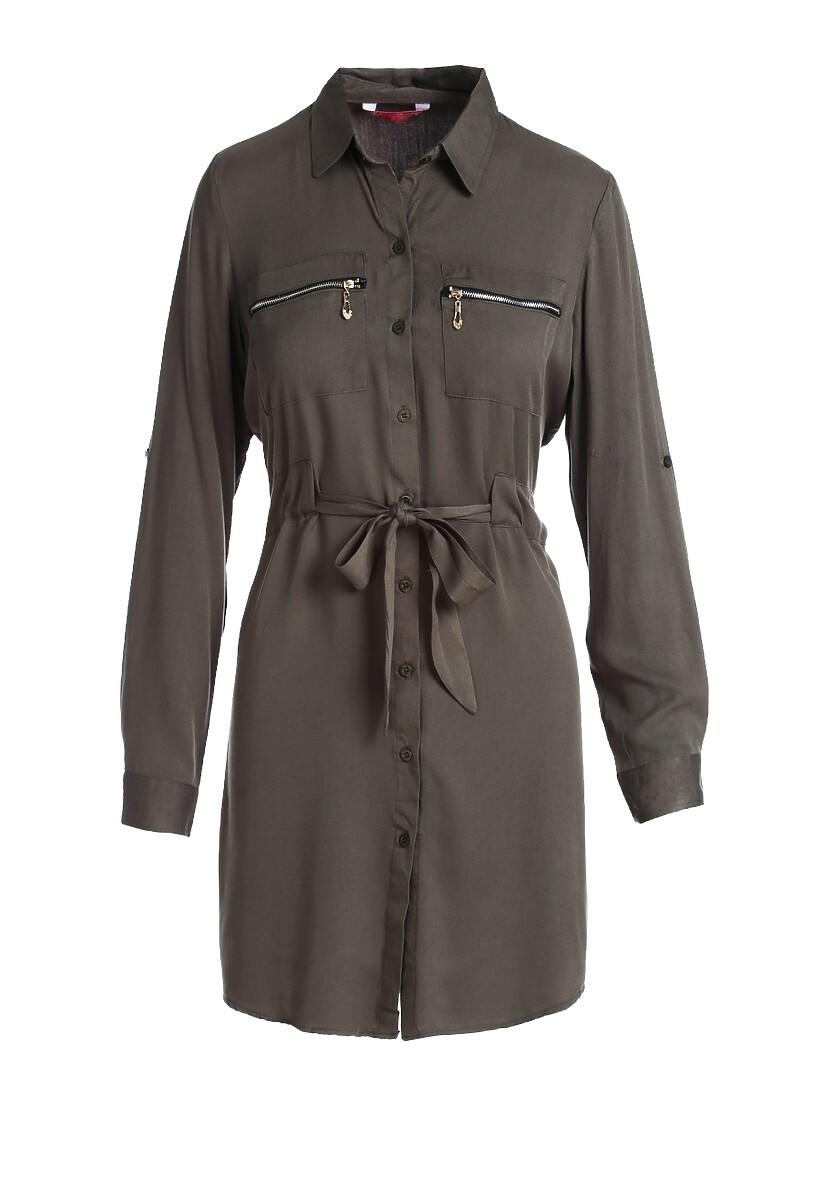 Oliwkowa Sukienka Lathlain
