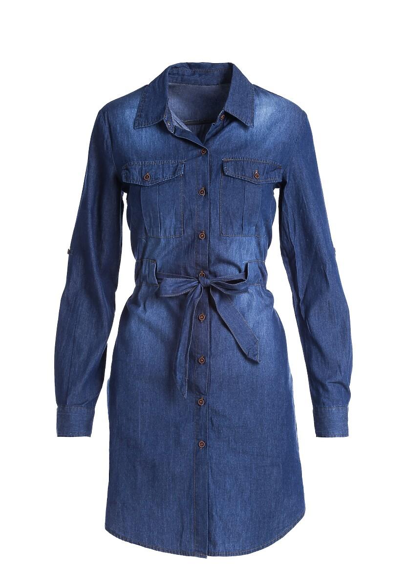 Granatowa Sukienka Langford
