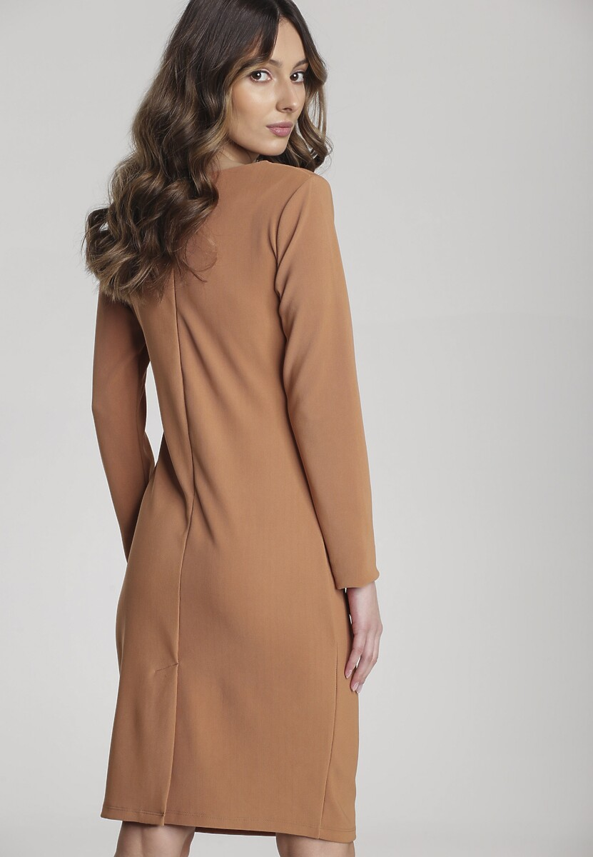 Beżowa Sukienka Hovea