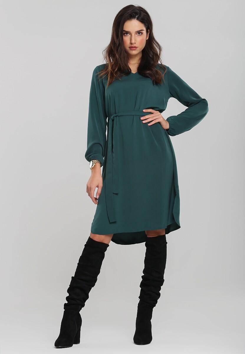 Ciemnozielona Sukienka Hocking